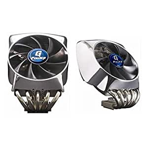 Gigabyte G-Power 2 Pro - Ventilador de PC (23 Db, Intel Core 2 Extreme processor series Intel Core 2 Duo processor series, Plata, Aluminio y cobre, 642g, 1500 RPM)