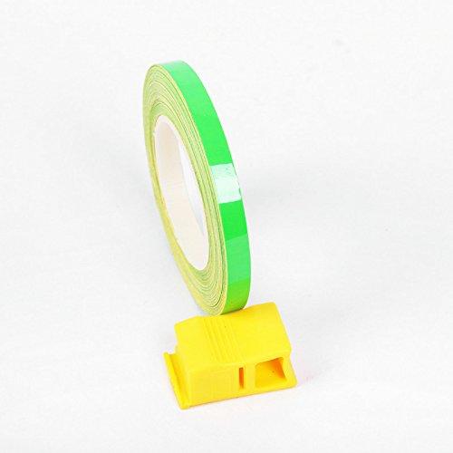 CARLAS Neon Green Fluorescent Car Motorcycle Wheel Tire Stickers Reflective Rim Tape (Green Wheel Rim Tape compare prices)