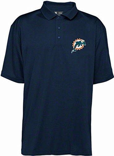 Miami Dolphins NFL Team Apparel Dri Fit Polo Golf Shirt Navy Big (Miami Dolphins Golf Shirt)