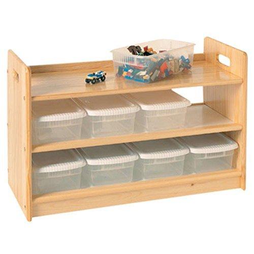 Little Colorado Toy Organizer with Casters, Unfinished ()