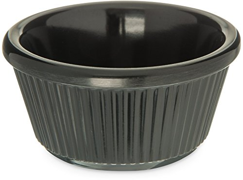 - Carlisle S28203 Melamine Fluted Ramekin, 3 oz. Capacity, Black (Case of 48)