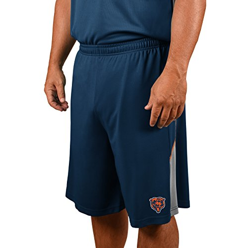(Profile Big & Tall NFL Chicago Bears Adult Men NFL Plus Synthetic Shorts,5X,Navy)