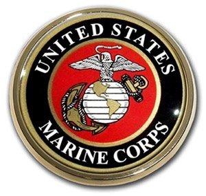 US Marine Corps USMC Gold Seal Auto Car Truck Motorcycle Emblem -