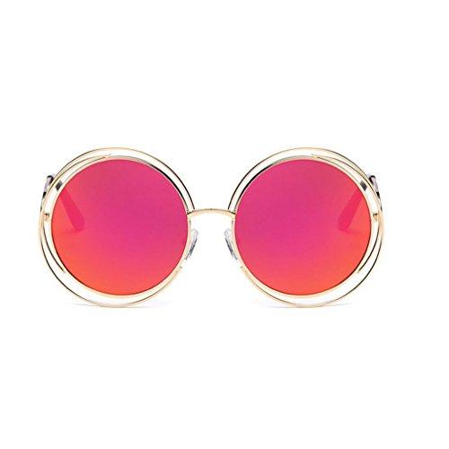hommes de soleil UV Vintage GAOLIXIA Spring Metal Protection Rouge rondes Unisexe Hinge femmes par Frame 400 Steampunk pour Lunettes 1wwgxaHq