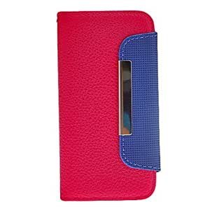 Litchi Pattern Folio PU Full Body Case with Stand, Card Slot and Strap for iPhone 5/5S (Assorted Colors) , White