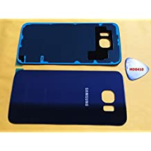 (md0410) Galaxy S6 DARK BLUE Rear Back Glass Lens Battery Door Housing Cover + Adhesive + Tool Replacement For Black Sapphire G920 G920A G920P G920T G920F G920V