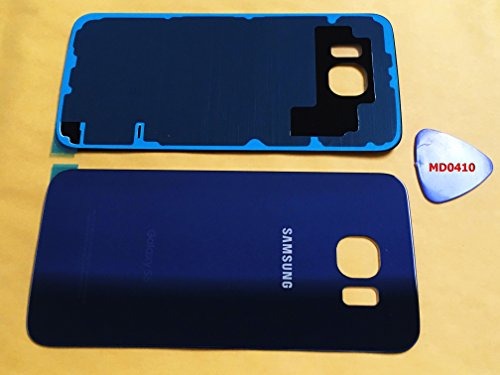 (md0410) Galaxy S6 DARK BLUE Rear Back Glass Lens Battery Door Housing Cover + Adhesive + Tool Replacement For G920 G920A G920P G920T G920F G920V