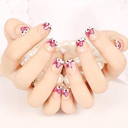 YUNAI uñas postizas - El fantástico y la princesa del estilo del cortocircuito Rosa Tamaño del