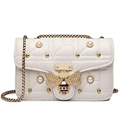 Specifications: Size Chart reference:9.05* 5.51 * 3.15 inch Material:High Quality PU Leather Package Include: 1* Handbags  it can be handbag, cross body bag.It is perfect for traveling,parties and dating Follow the trend of fashion