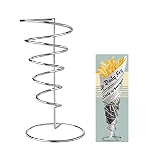 Eddingtons - Soporte para patatas fritas, diseño cónico en espiral