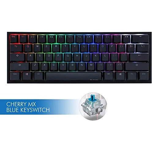 Ducky One 2 Mini Mechanical Keyboard RGB LED 60% TKL Double Shot PBT Gaming Keyboard (Cherry MX Blue)