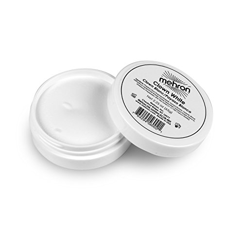 Mehron Makeup - Clown White Face Paint, 2.25 oz - Cream Makeup Halloween