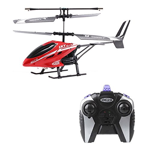 Islandse❤ RC HX713 2.5CH Helicopter Radio Remote Control Aircraft (Red)