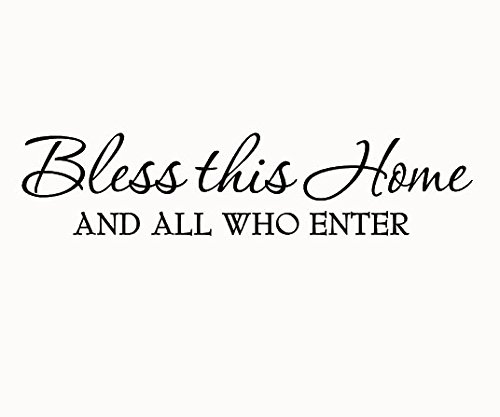 Bless This Home and All Who Enter Wall Decals Quotes Religio