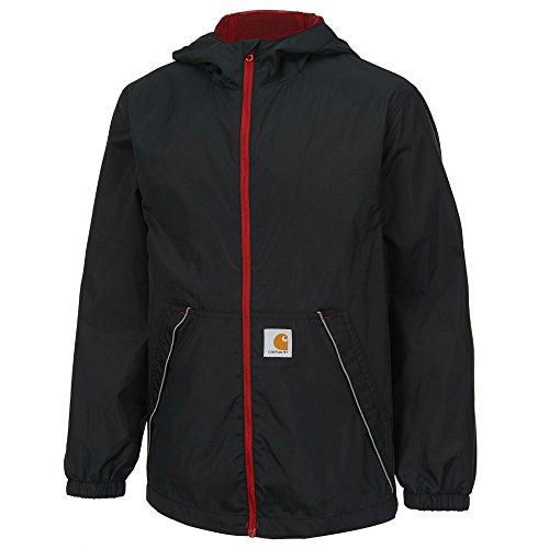' Packable Zip Rain Jacket, Caviar Black, X-Small-6 ()