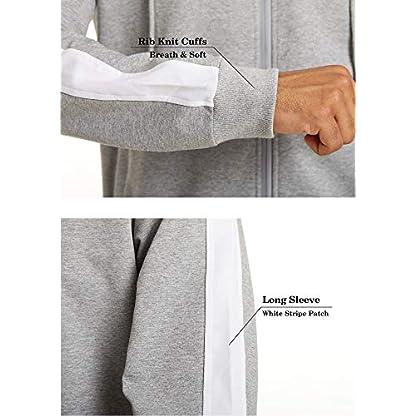 TACVASEN Men's Hoodie Fleece Hooded Sweatshirt Full Zip Sport Casual Jacket Hoody 4
