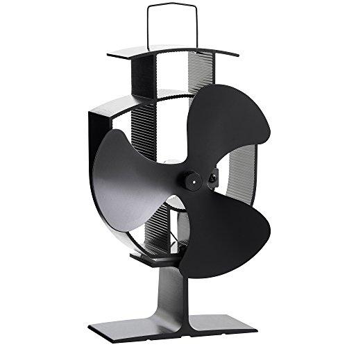 VonHaus 3 Blade Stove Fan – Silent, Heat Powered Wood/Log Burner Fan -...