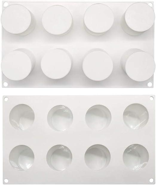 Moule Ovale /à Sucette Classique Blanc Shenlu Moule en Silicone /à la cr/ème glac/ée avec 8 b/âtons en Plastique 4 cavit/és