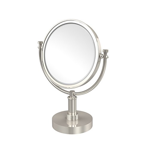 Allied Brass DM-4G/3X-PNI 8 Inch Vanity Top Make-Up Mirror 3X Magnification Polished Nickel
