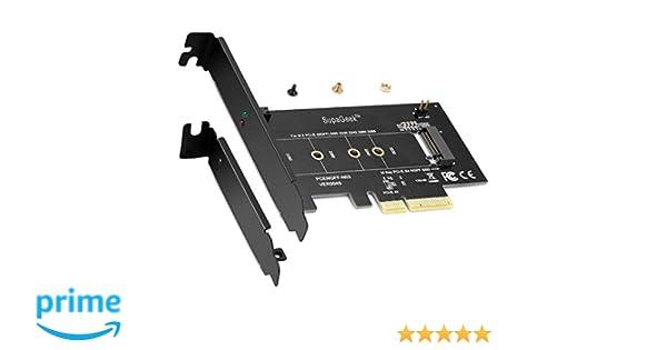 Tarjeta adaptadora M.2 de PCIe SSD a PCIe Express 3.0 x4: Amazon ...