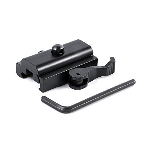 Calitte QD Quick Detach Cam Lock Bipod Adapter Mount for Picatinny Weaver Rail ()