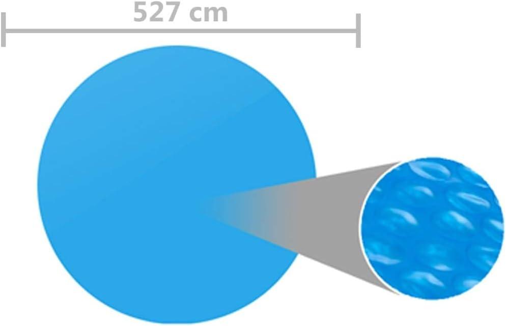 vidaXL Pool Cover Solar Above Ground Swimming Pool Padding Mat Blue 356cm PE