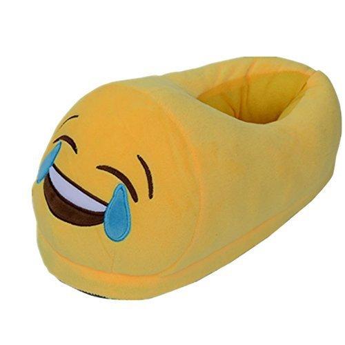 Dolphineshow Söt Emoji Vinter Poop Formade Skor Unisex- Vuxna Tofflor Emoji Saker Plysch Docka Leksak (poop) Le-e
