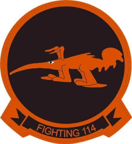 MAGNET US Navy Fighting-114 Aardvarks Squadron Decal Magnetic Sticker 3.8
