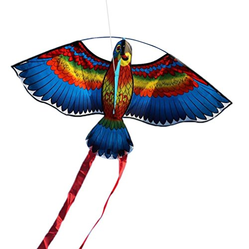Transer 3D Parrot Kite  Easy Flyer Toys For Kids Outdoor Flying Games And Activities  Multicolor