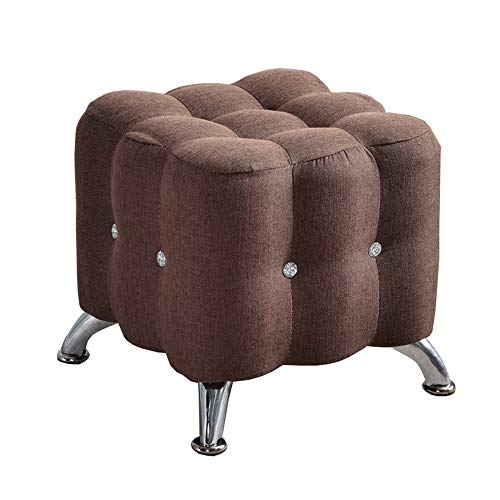 Footstool Solid Wood Frame Home Change Shoes Stool Sofa Stool Bed end Stool Mobile Anti-Slip Stool (Color : J)