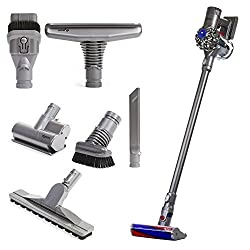 Soft Roller Cleaning Head - Invented for hard floors that removes large debris & fine dust simultaneously Dyson Digital V6 Motor / 2-Tier 15 Cyclone Airflow System Max Power Mode - Provides 6 minutes of higher suction for more difficult tasks Bal...