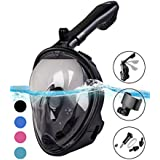 X-Lounger Snorkel Mask, 2018 New Foldable Snorkeling Mask Full Face with Detachable Camera Mount & Earplug, 180° Large View Easy Breath Dry Top Set Anti-Fog Anti-Leak