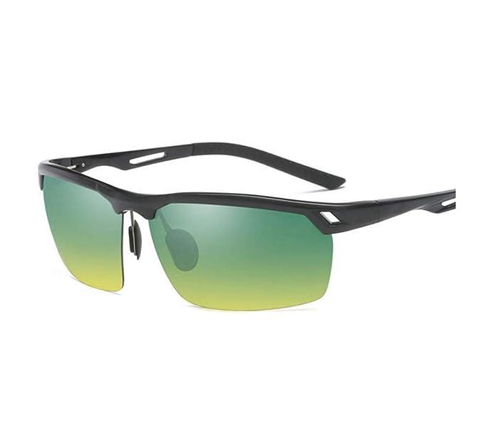 ALHM Gafas De Sol Polarizadas Hombres De Aluminio De Medio ...