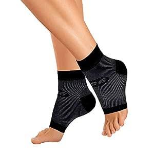 FS6 Medias de compresion para pie (talla M), Color Negro