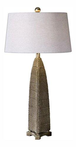 Kolva Antiqued Silver Table (Antiqued Silver Leaf Table Lamp)