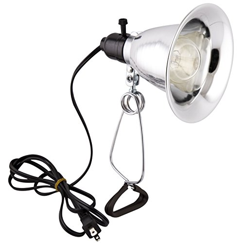 Apollo Horticulture Purple Reign 150 Watt Clip Lamp Grow Light with 5.6 Inch Reflector, 6-Foot Cord and Bulb -...