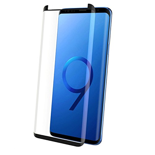 Androw S9 Plus Screen Protector, Tempered Glass Protector de Pantalla Galaxy S9 Plus Film, 9H Hardness [Anti-Scratches] [Anti-Fingerprint] [Bubble Free] 3D Curved Edges by Androw