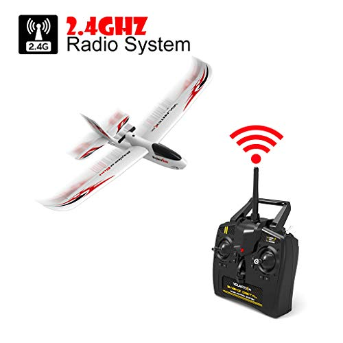WWFFOO RC Airplane With 2.4GHz 6-Axis Gyro 761-2 RTF Plane For Beginners Remote Control Ready Easy to Fly Outdoor Toys Sports Good for Adluts Safe Select for Small Flight Club Party (White) by wwffoo (Image #5)