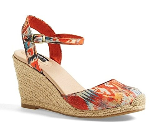 Adam Tucker Kvinners Bethany 12 Kile Sandal Oransje Multi Print