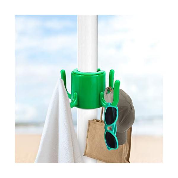Beabro 2 Pezzi Picchetto di Supporto per ombrellone Mare Spiaggia Vacanze Sole Giardino Punta Terra Sabbia Trivella… 5 spesavip