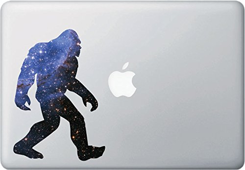 "Price comparison product image Cosmic Sasquatch - Star Squatch - Galaxy - Vinyl Decal for Macbooks | Laptops | Indoor Use - Copyright Yadda-Yadda Design Co. (5""w x 7""h) (Medium, COSMIC)"