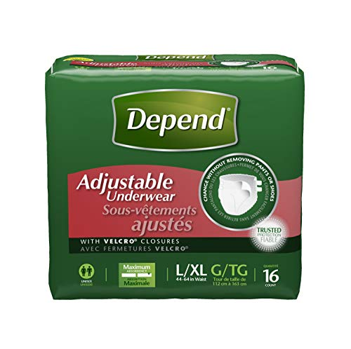 Depend Adjustable Incontinence Underwear, Maximum Absorbency, L/XL