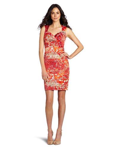 Jax Women's Tucked Satin Dress