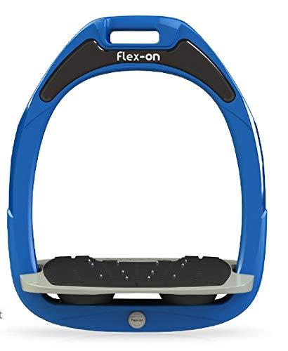 【 限定】フレクソン(Flex-On) 鐙 ガンマセーフオン GAMME SAFE-ON Mixed ultra-grip フレームカラー: ブルー フットベッドカラー: グレー エラストマー: ブラック 90359   B07KMSZPP2