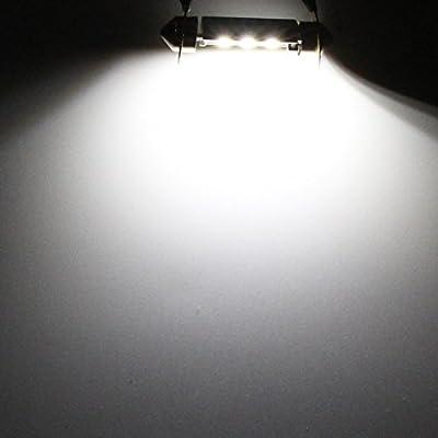 Alla Lighting DE3022 DE3175 LED Bulb Xtremely Super Bright 31mm CAN-BUS Festoon DE3021 3175 6428 3030 SMD Cars Trucks LED Interior Dome Map Trunk Step Courtesy Lights, 6000K Xenon White: Automotive
