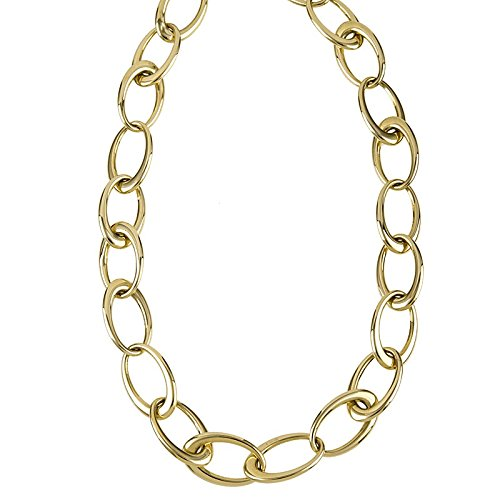 14 ct GelbGold Halskette Oval Link High Polish – Länge Optionen  46 51 61 86  46.0 Zentimeter