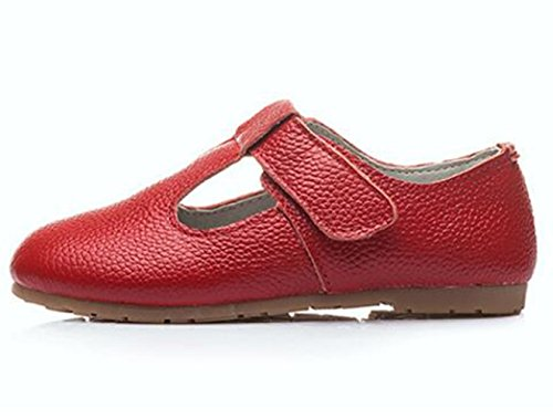 DADAWEN Gril's Leather T-Strap Oxford Flats Mary Jane School Uniform Shoes Princess Wedding Party Dress Shoes