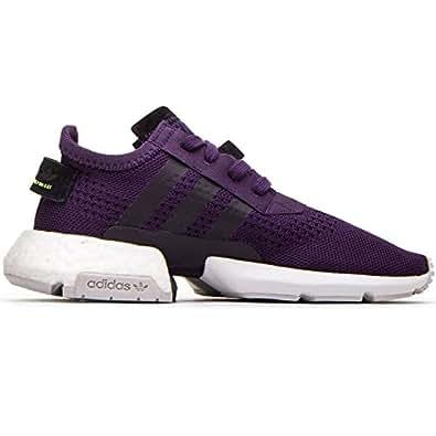 adidas Womens Women's Pod-s3.1 Legend Purple/Hi-res Yellow Cg6177 Purple Size: 8.5