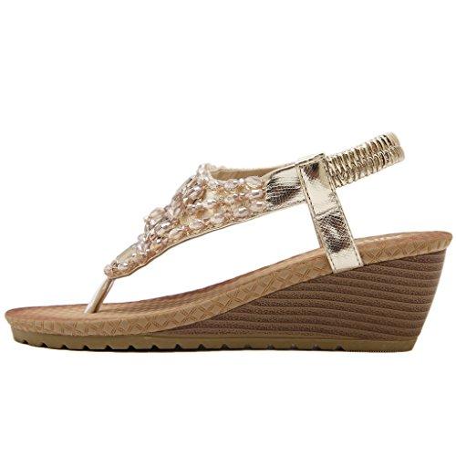 MatchLife - zapatos y sandalias mujer - Style6-Gold