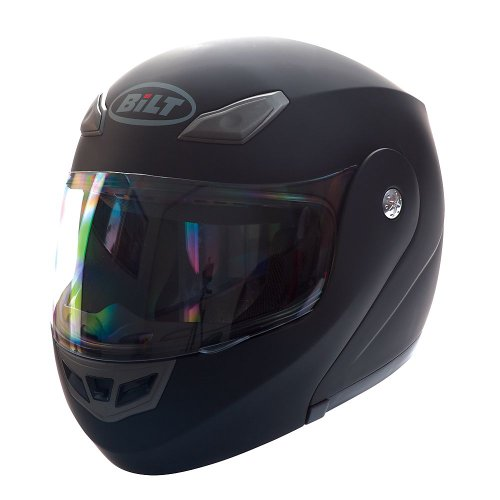 BILT Demon Modular Motorcycle Helmet - LG, Matte Black